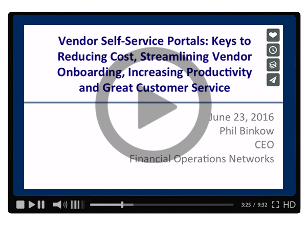 Vendor Self-Service Portals - Keys to Reducing Costs