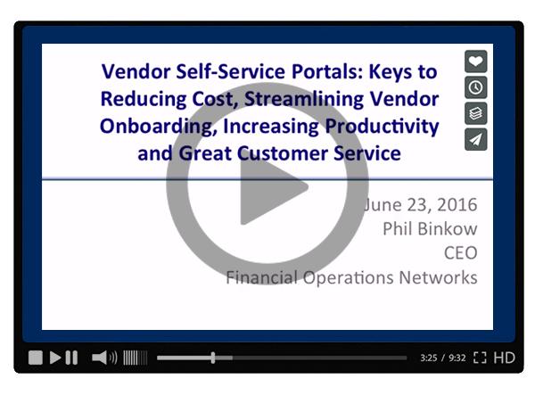 Vendor Self-Service Portals: Keys to Reducing Cost, Streamlining